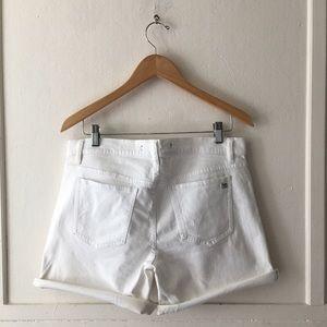 """Joe's Jeans Shorts - Joe's Jeans 4 1/2"""" cuffed white jean shorts"""